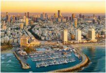 Tel Aviv in Israel aerial view Aerial
