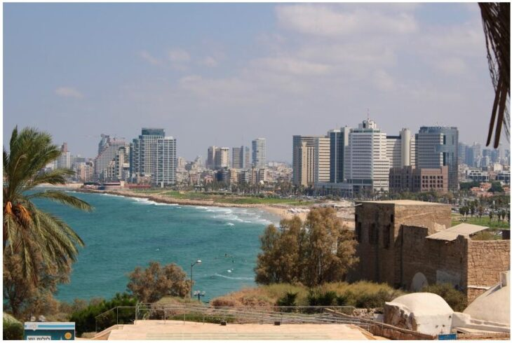 View from Jaffa to the Bay of Tel Aviv